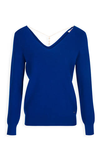 trui met sierketting blauw