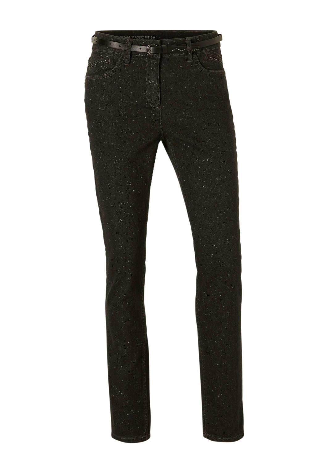 C&A The Denim jeans met all over glitter zwart, Zwart