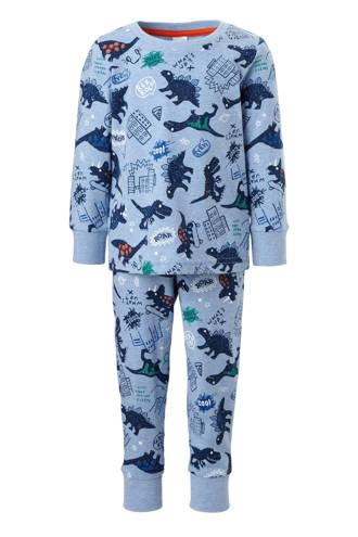Palomino   pyjama met dino's blauw