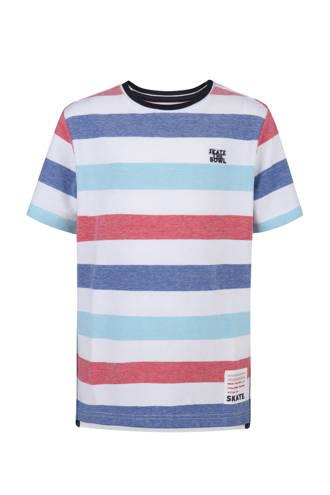 gestreepte T-shirt wit
