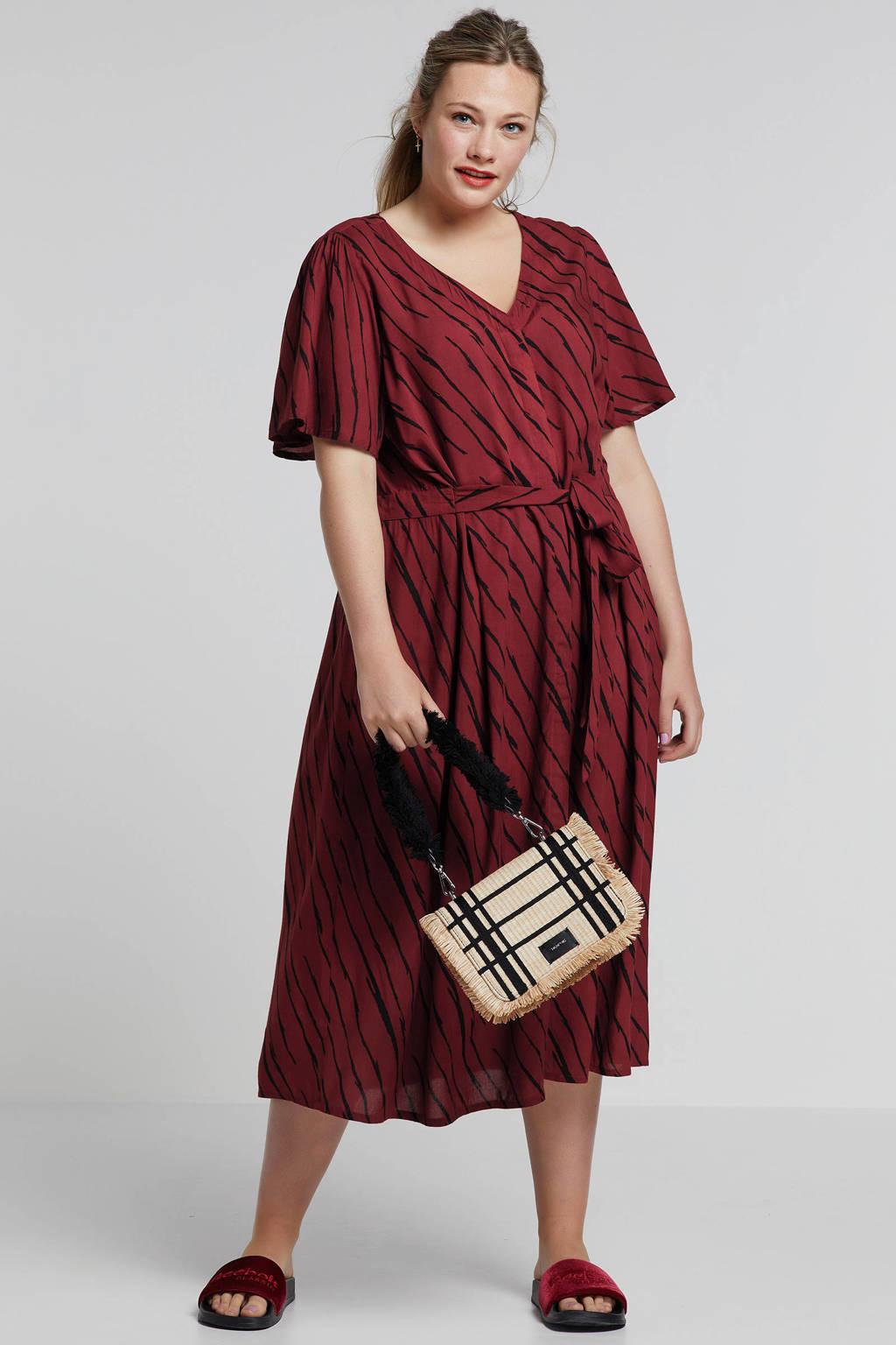 whkmp's great looks doorknoop jurk in zebraprint, Brique/zwart