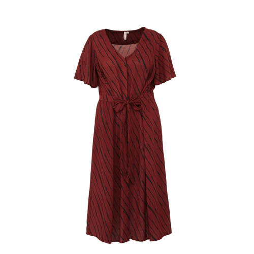 whkmp's great looks doorknoop jurk in zebraprint, whkmp's great looks jurk gemaakt van soepelgeweven viscose met een zebraprint. De doorknoop jurk heeft een mooie V-hals, korte wijde mouwen Âen een iets uitlopende rok. De taille wordt geaccentueerd door de ingezette band en de strik aan de voorkant.Extra gegevens:Merk: whkmp's great looksKleur: OranjeModel: Jurk (Dames)Voorraad: 9Verzendkosten: 0.00Plaatje: Fig1Maat/Maten: 44Levertijd: direct leverbaar