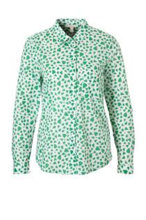 ESPRIT Women Casual blouse met hartjes groen