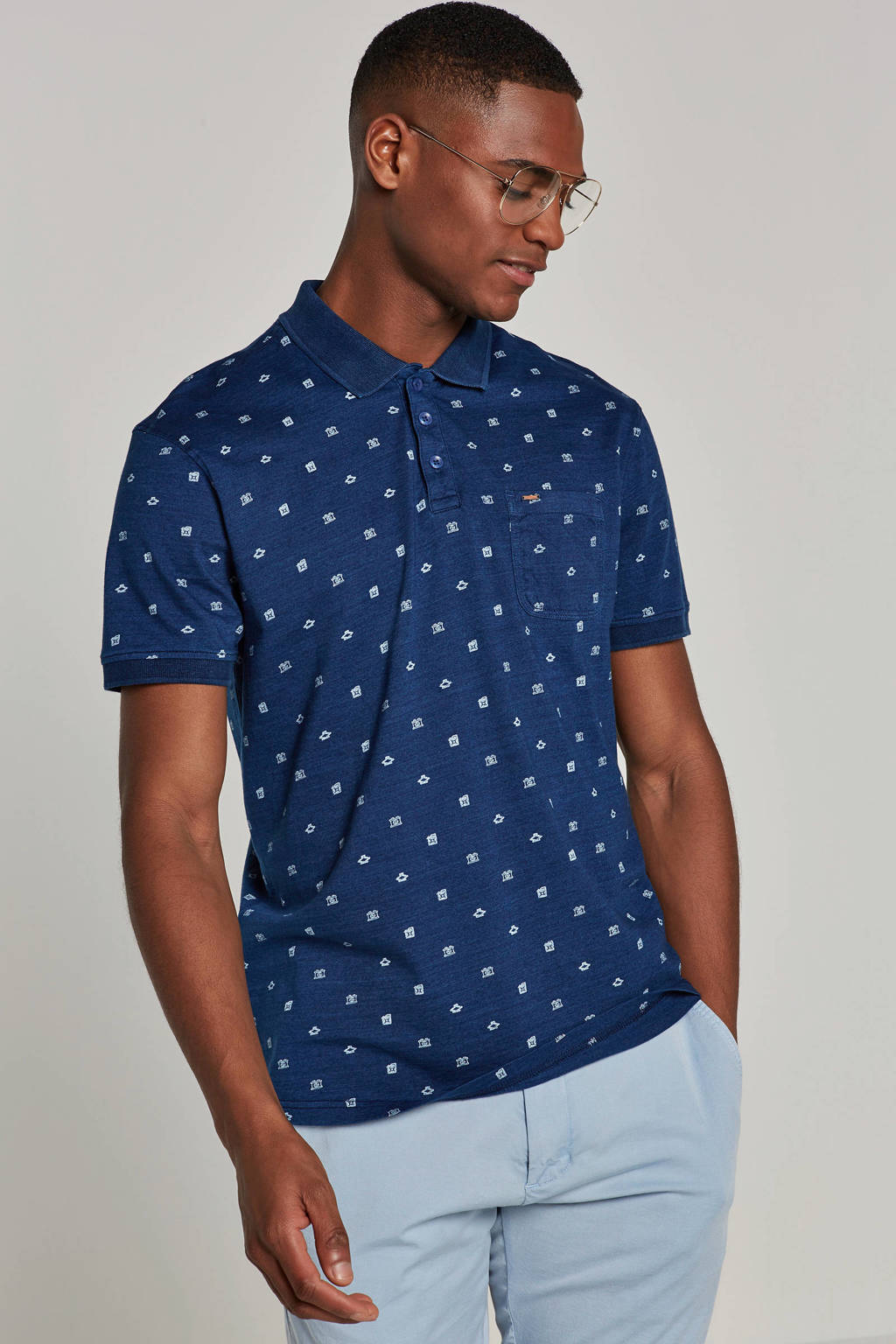 Petrol Industries polo, Donkerblauw