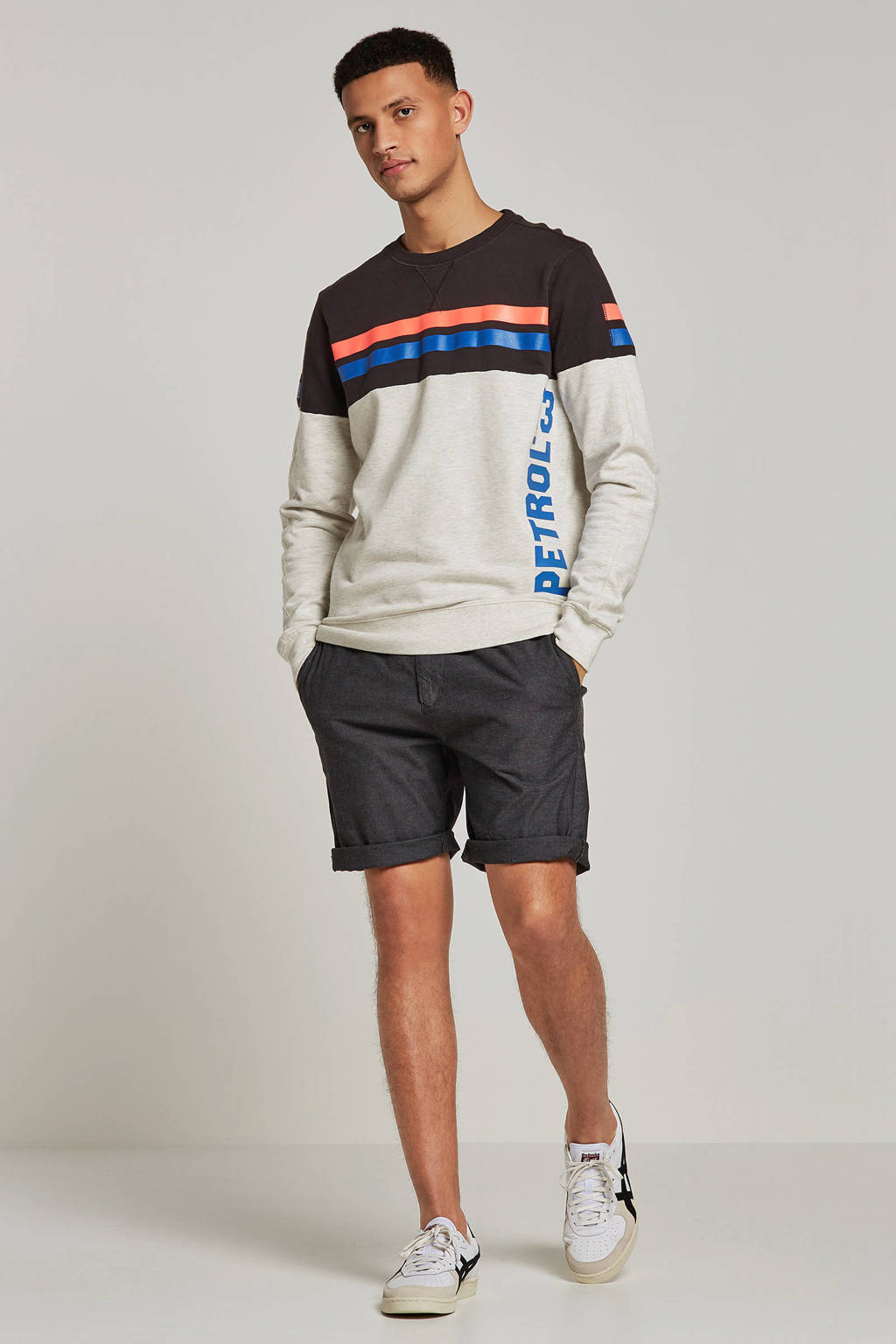 Petrol Industries sweater, Grijs melange