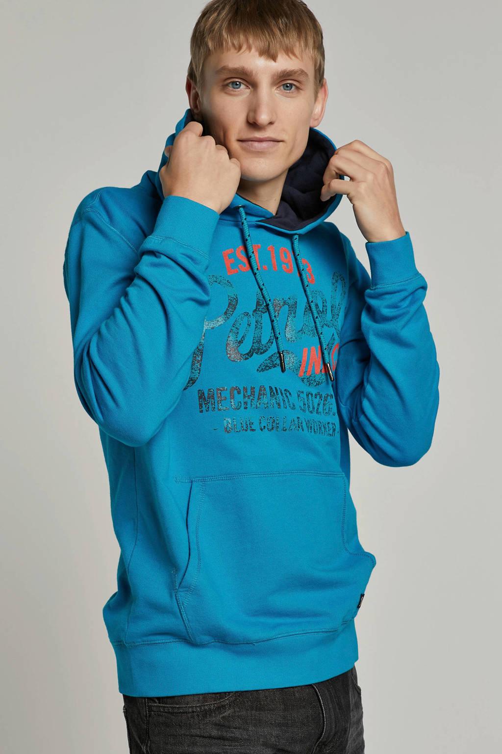 Petrol Industries hoodie, Blauw