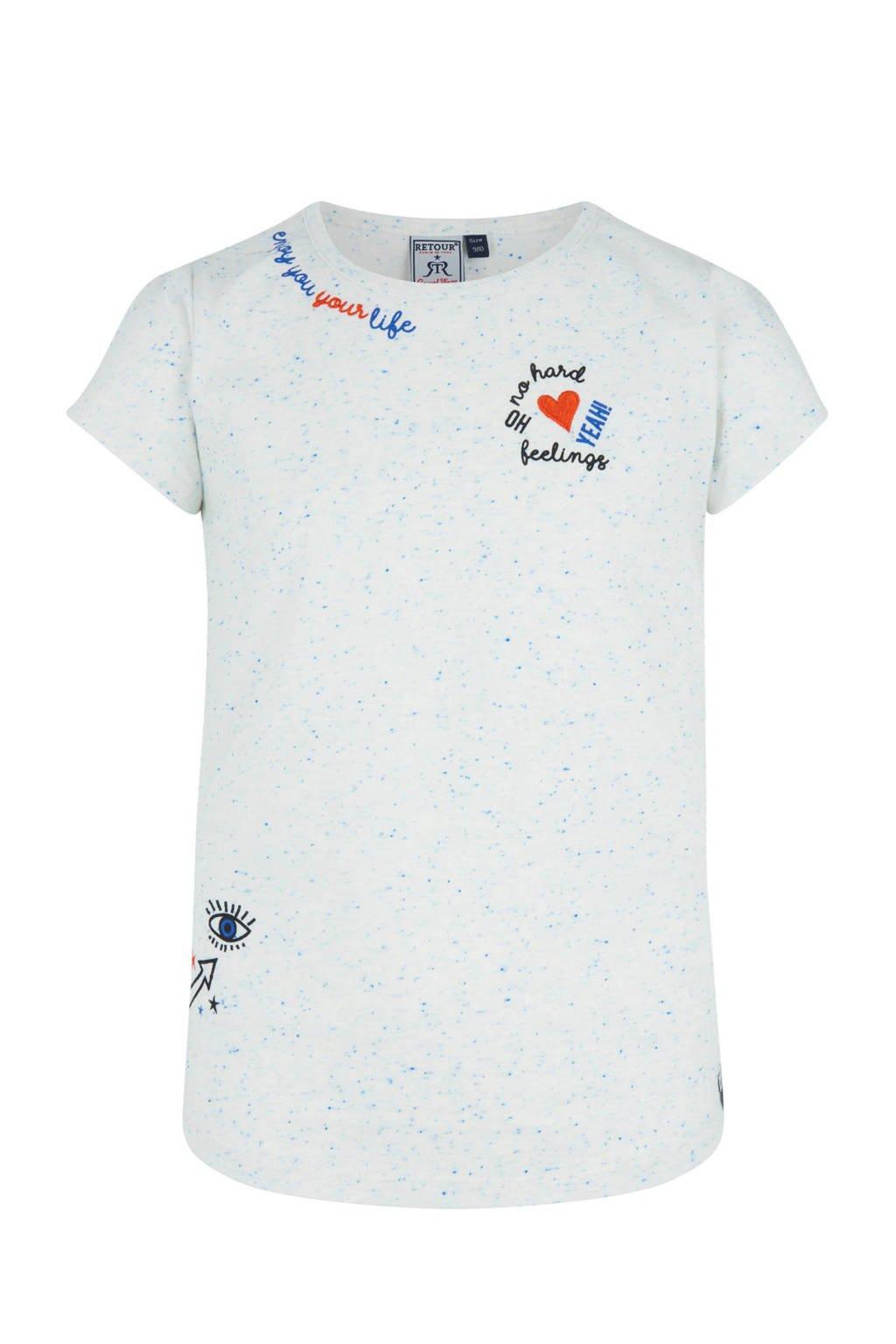 Retour Denim T-shirt Fanny met print lichtblauw, Lichtblauw