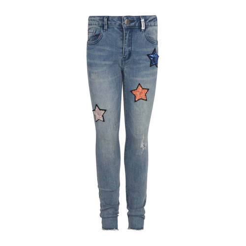 Retour Denim skinny fit jeans met sterren Phillippa blauw kopen