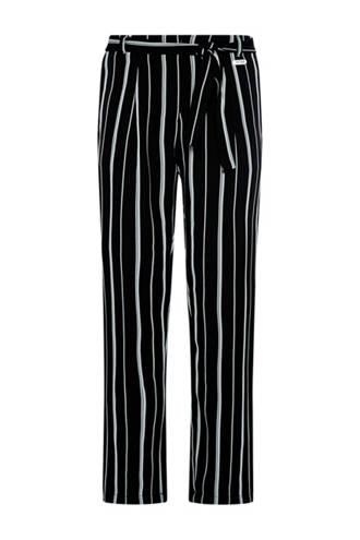 gestreepte broek Mayke zwart
