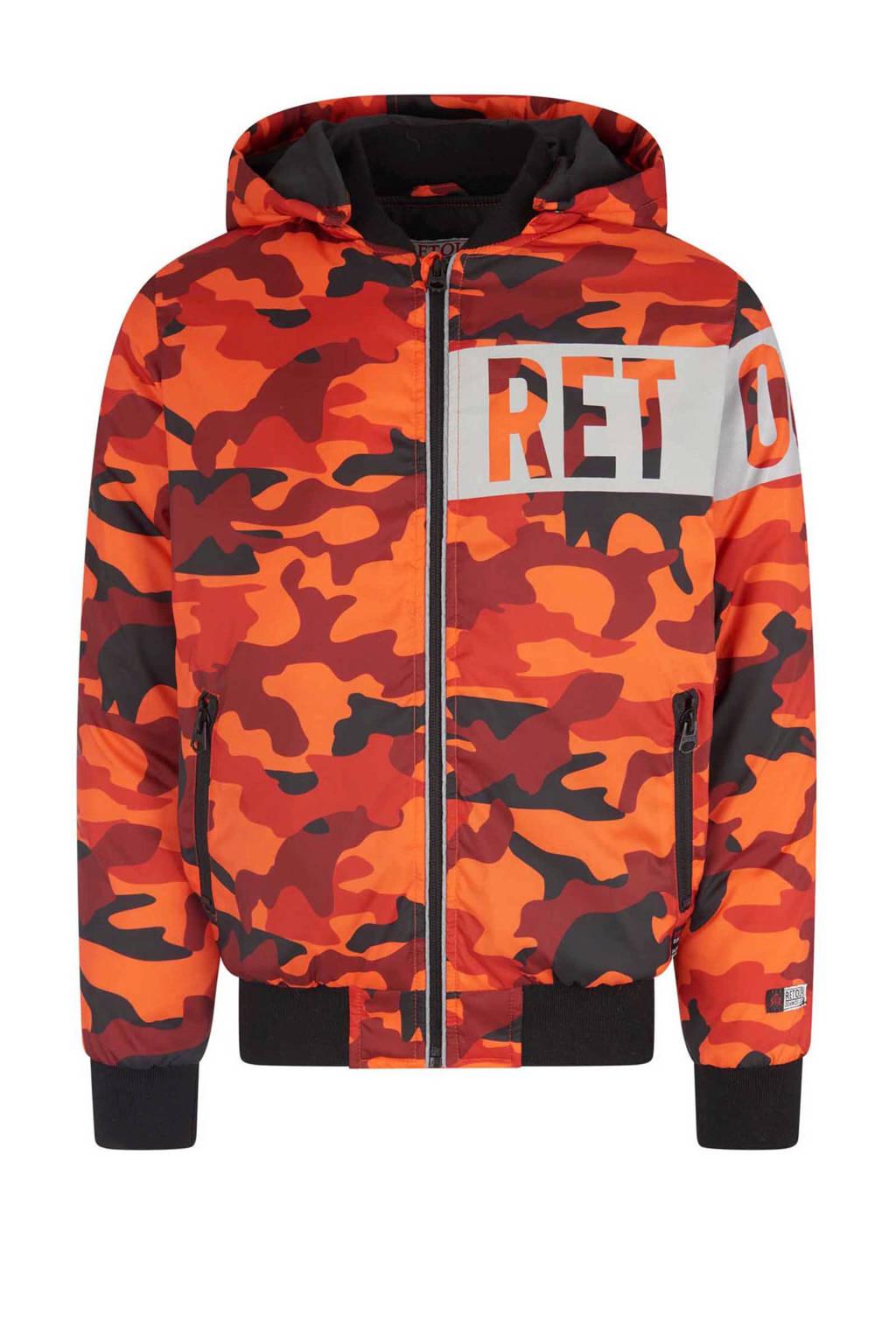 Retour Denim tussenjas Levi met camouflageprint oranje, Oranje