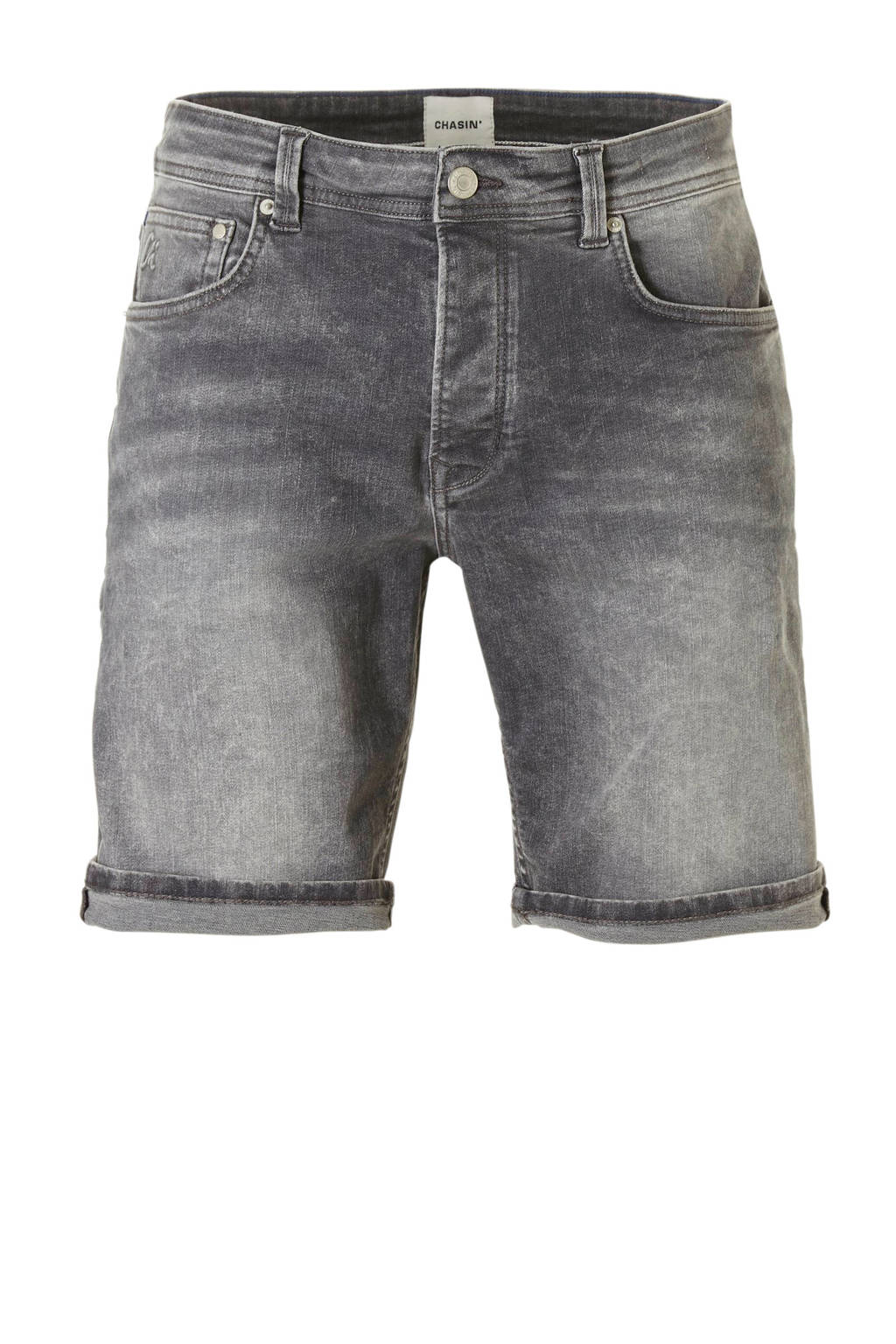 Chasin' tapered fit jeans short Ross, Grijs