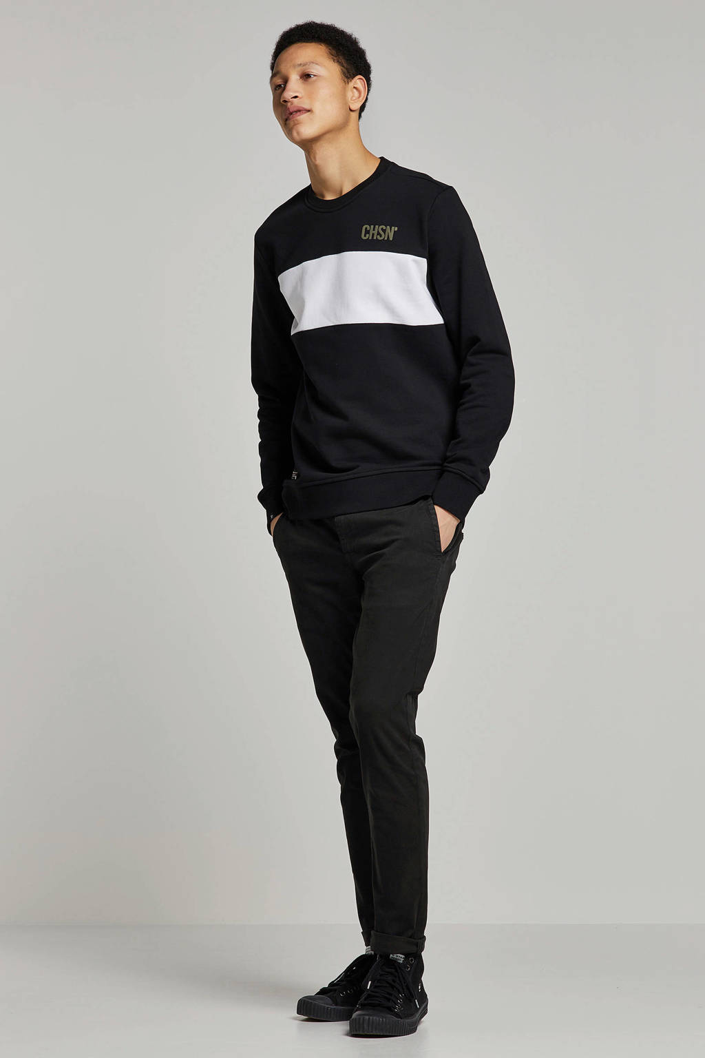 Chasin' sweater, Zwart/wit