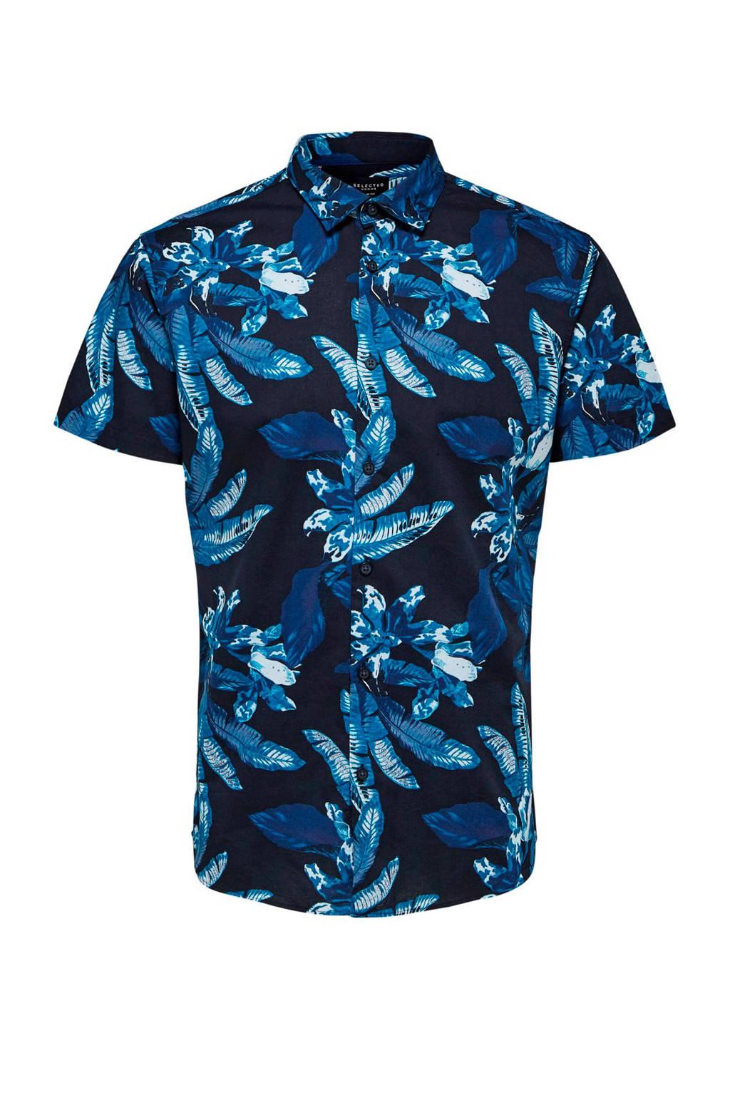 SELECTED HOMME overhemd, Zwart/blauw