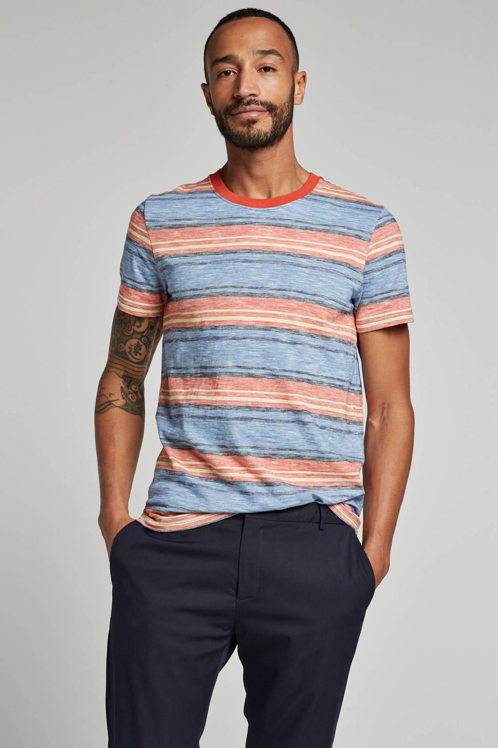 SELECTED HOMME T-shirt Kasper, Oranje/blauw