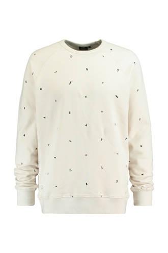 sweater Sef met print ecru