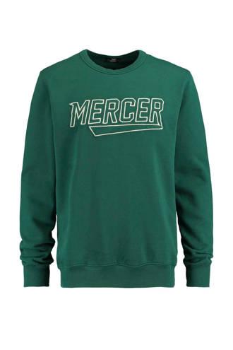 sweater Sef met borduursel groen