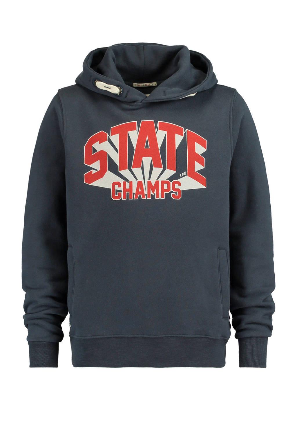 America Today Junior hoodie met tekst Shawn blauw, Donkerblauw