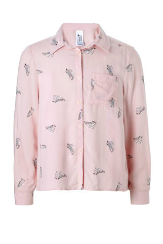 Here & There blouse met sneakers roze