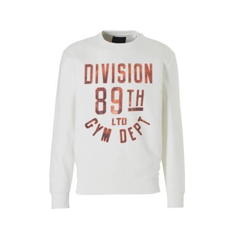 C&A Angelo Litrico sweater met tekstopdruk ecru