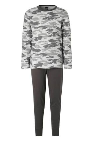 Here & There   pyjama met camouflageprint grijs