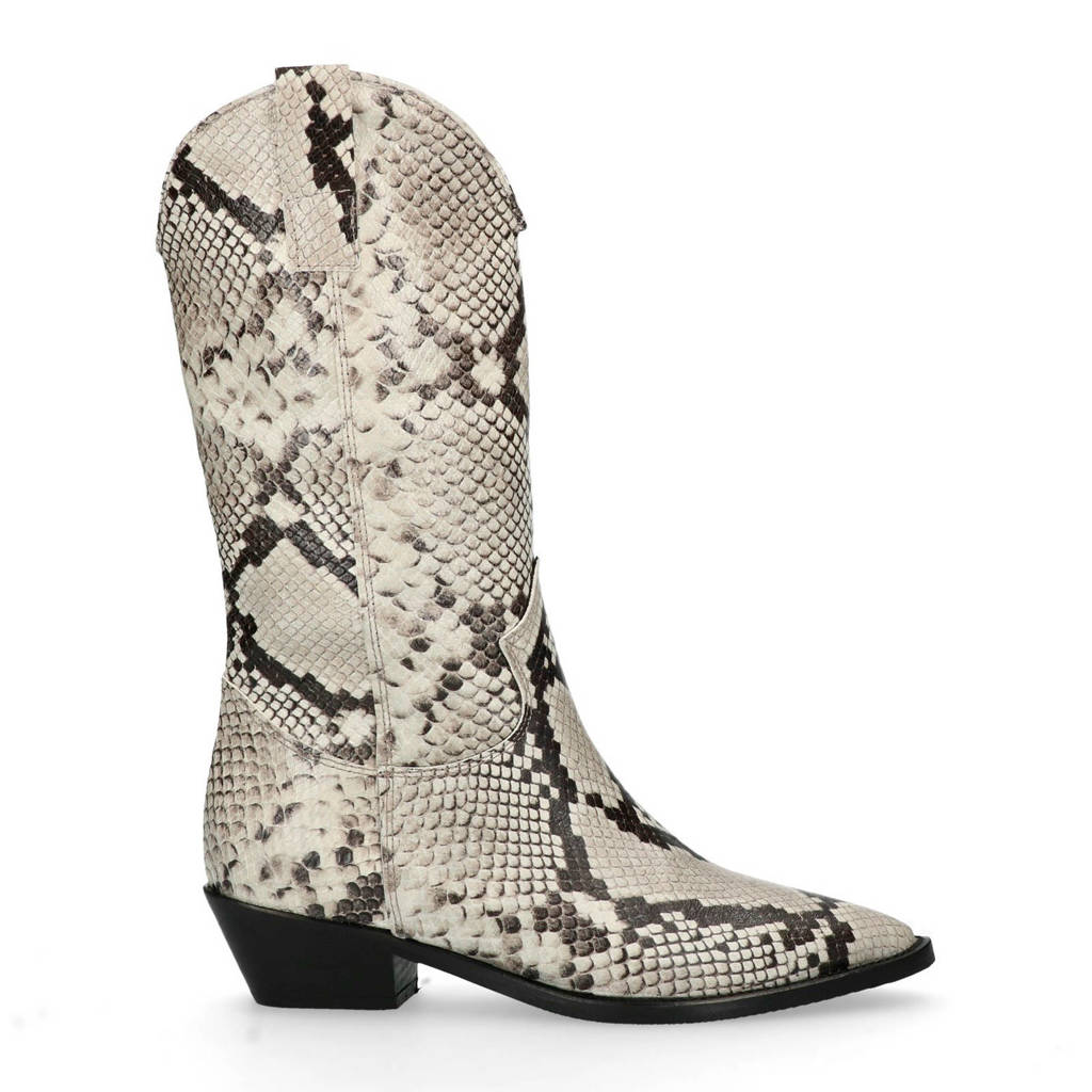 Sacha cowboy boots slangenprint, Dierenprint