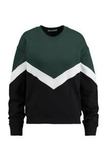 America Today sweater Sadie donkergroen (dames)
