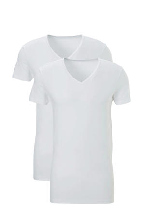 T-shirt (set van 2) wit