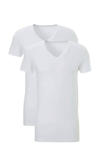 T-shirt (set van 2) wit