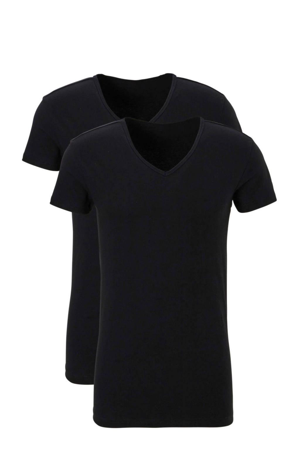 ten Cate T-shirt (set van 2) zwart, Zwart