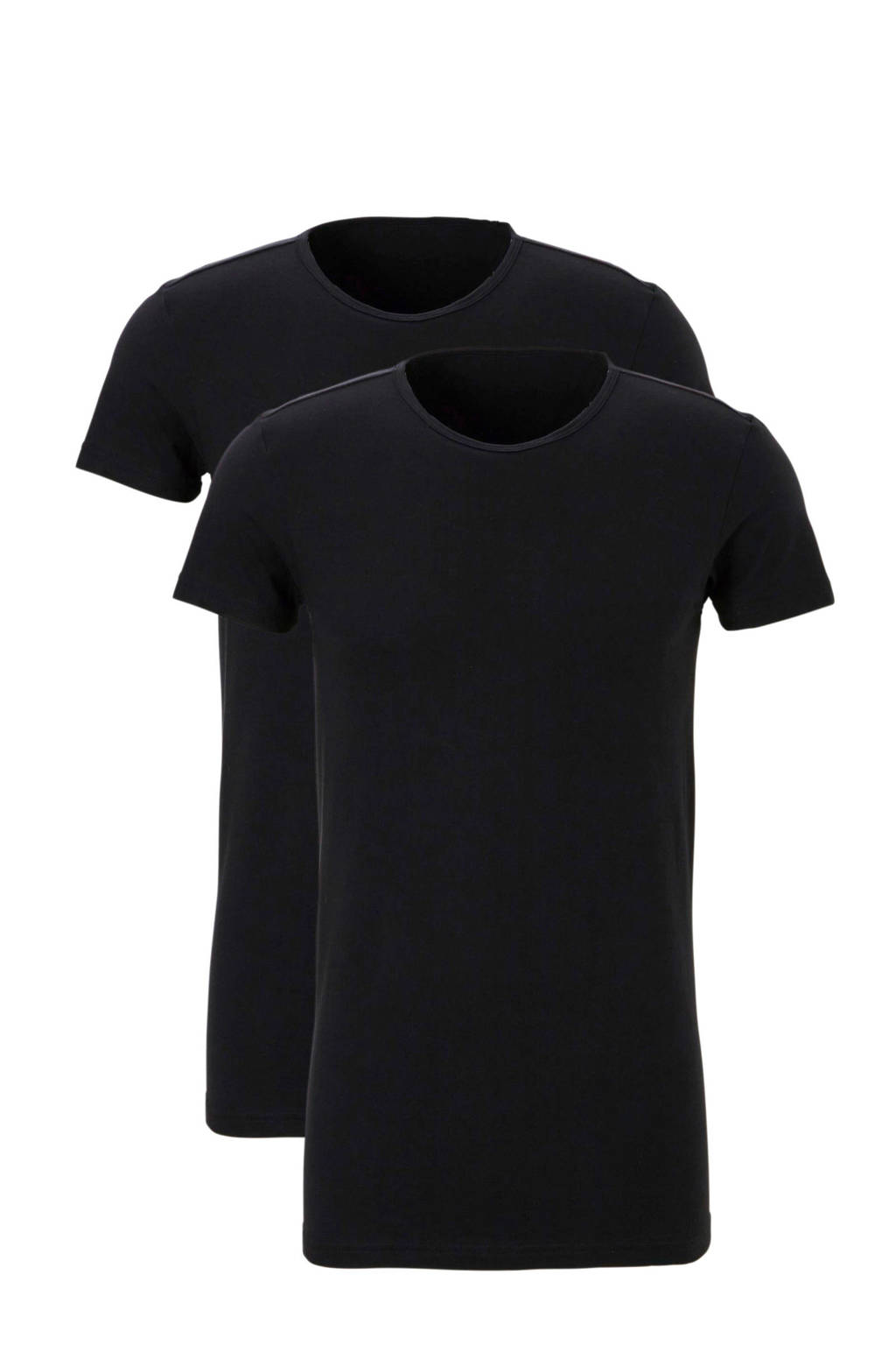 ten Cate T-shirt (set van 2) zwart, Zwart