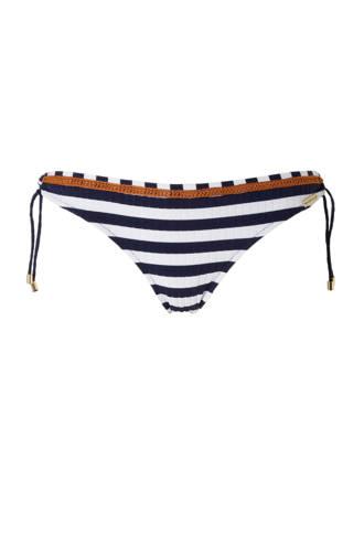 Mix & Match gestreepte strik bikinibroekje marine