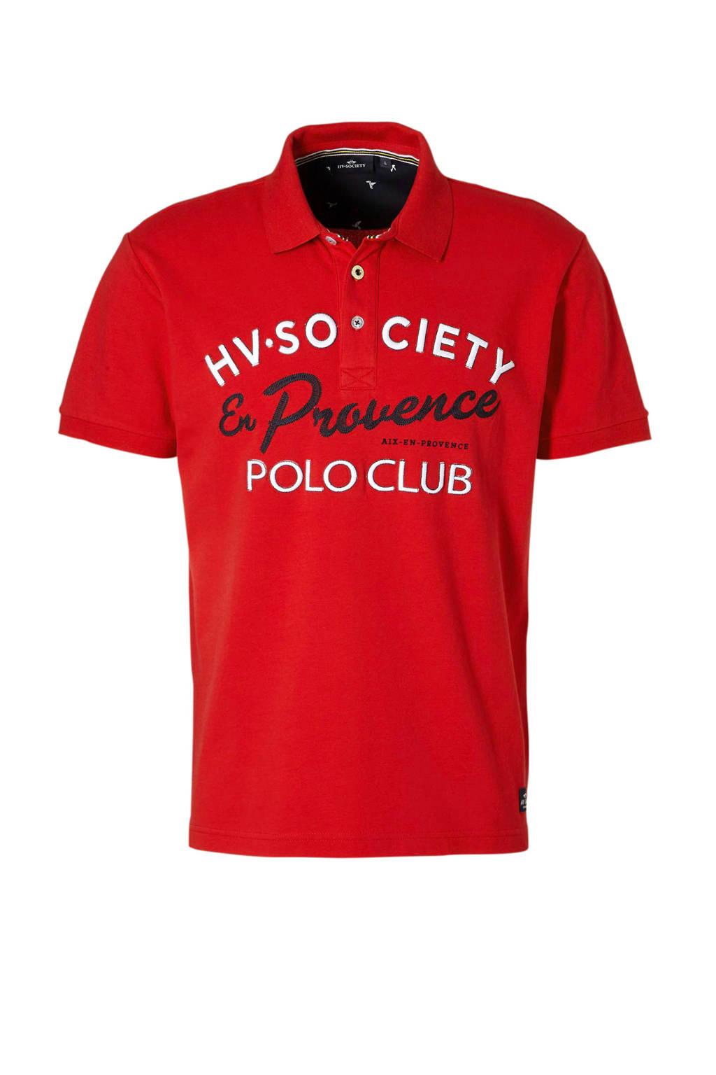 HV SOCIETY polo, Rood