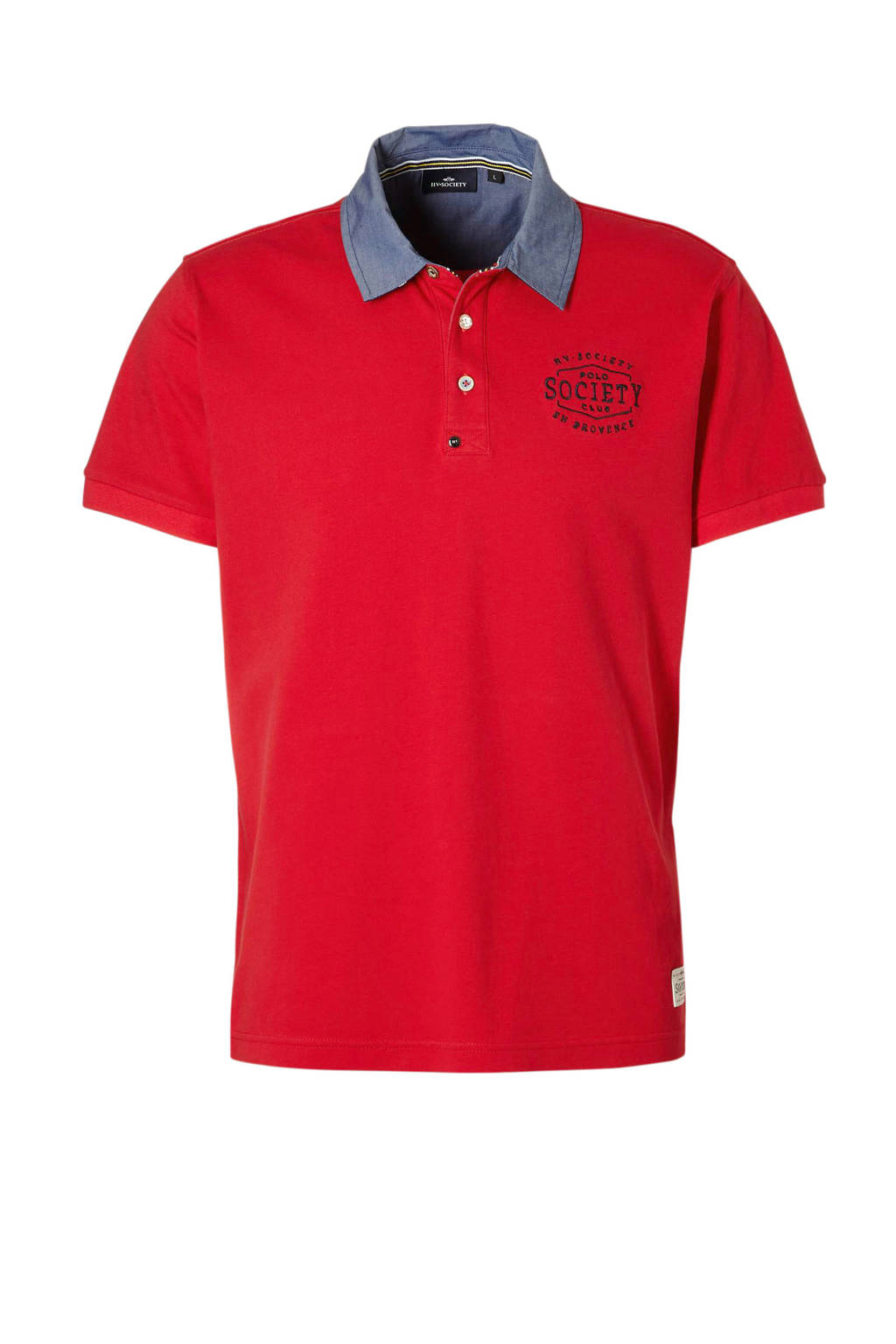 HV SOCIETY polo, Rood