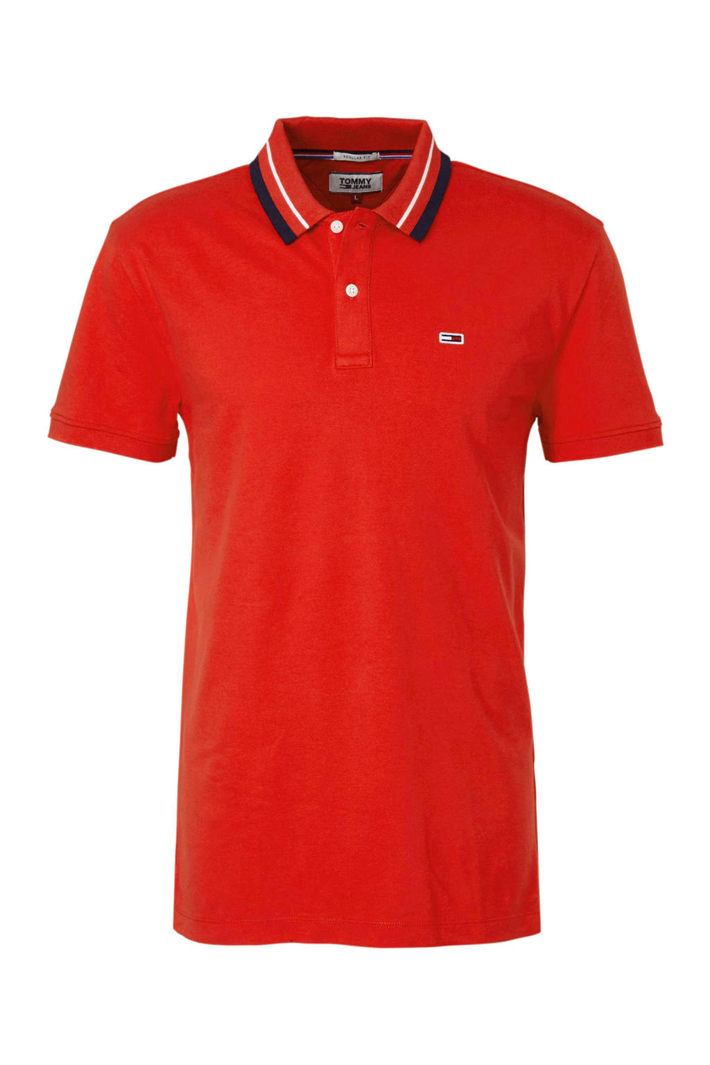 Tommy Jeans regular fit polo, Rood/blauw/wit