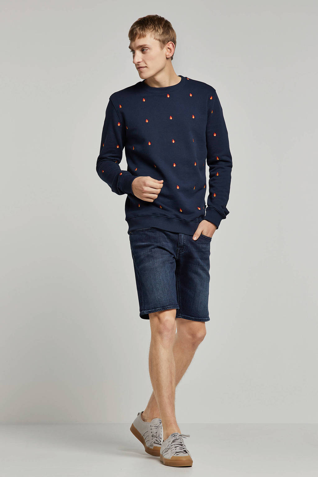 Tommy Jeans slim fit jeans short, Donkerblauw