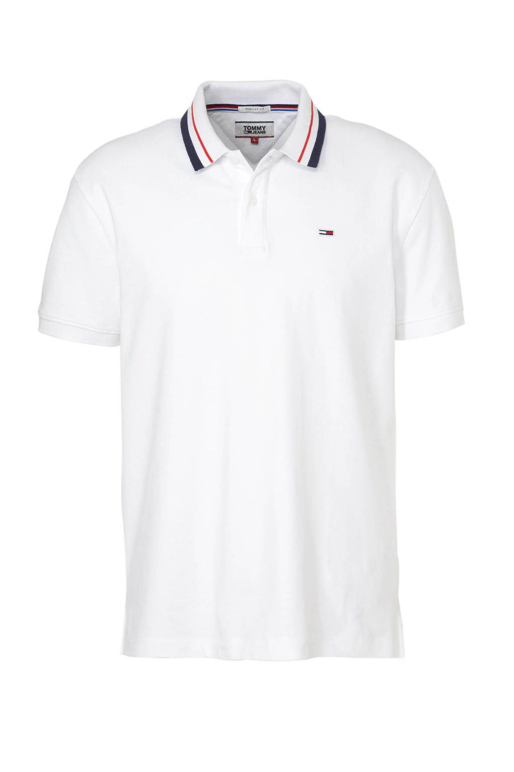 Tommy Jeans regular fit polo, Wit