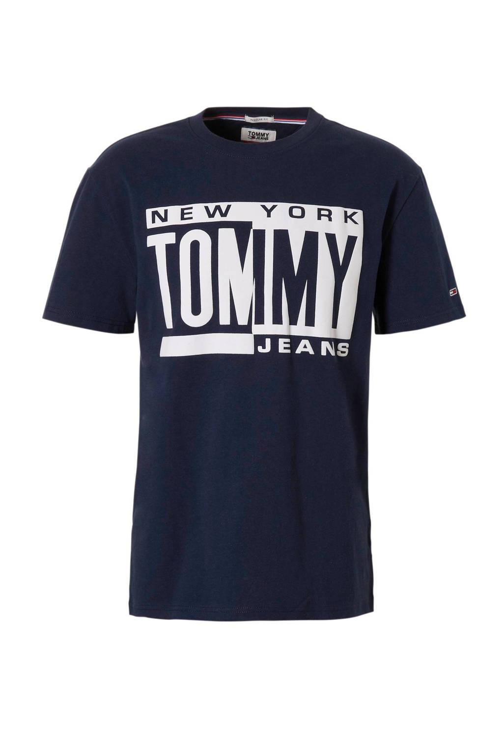 Tommy Jeans T-shirt met logo marine, Marine