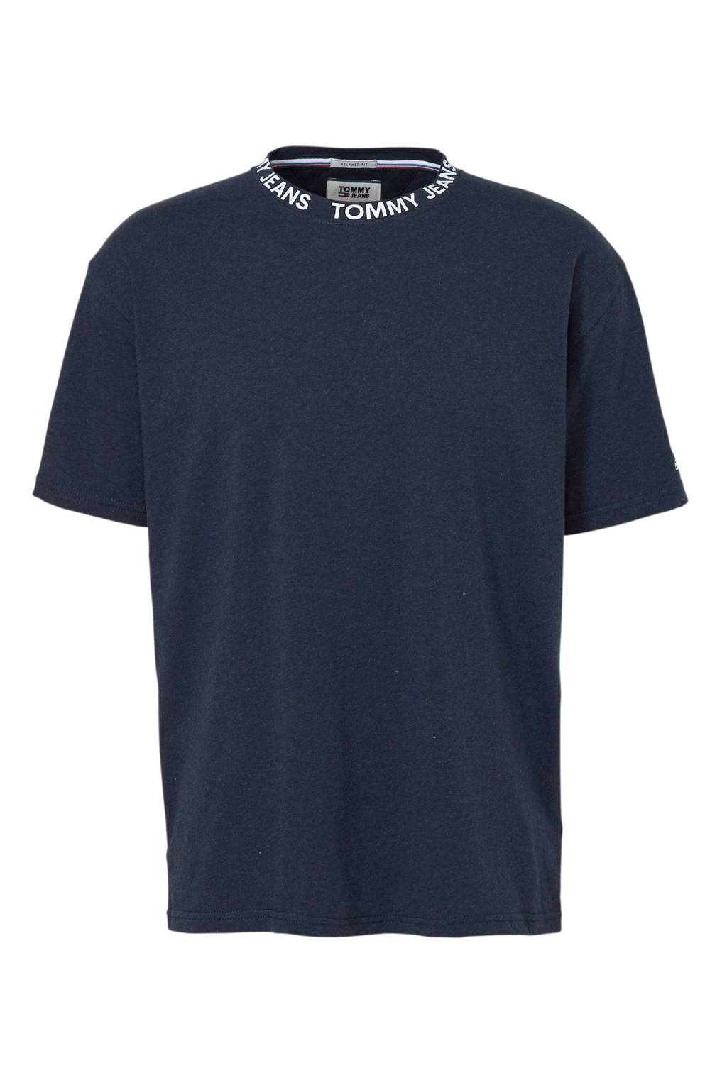 Tommy Jeans relaxed fit T-shirt, Donkerblauw