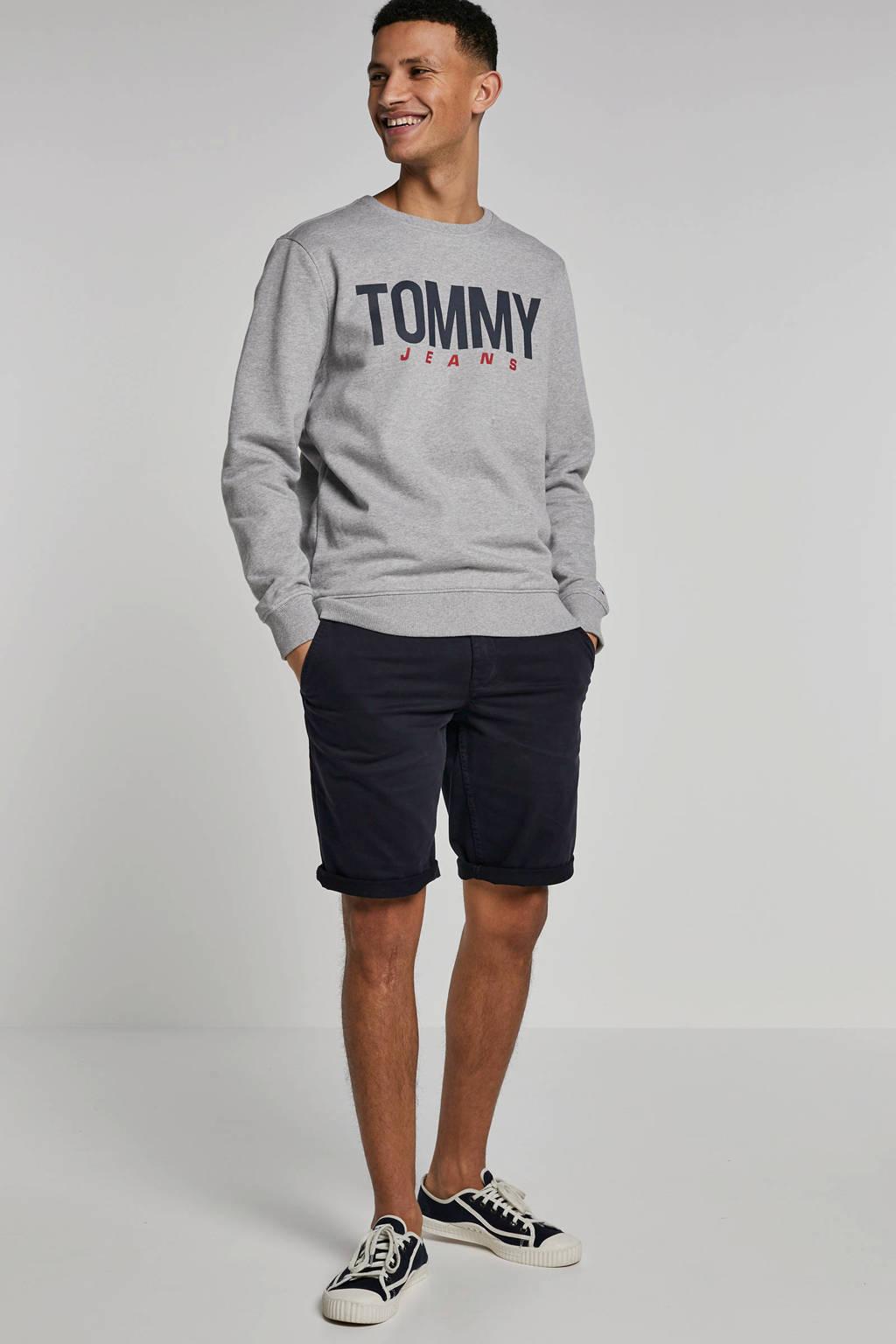 Tommy Jeans gemêleerde sweater met logo grijs, Grijs