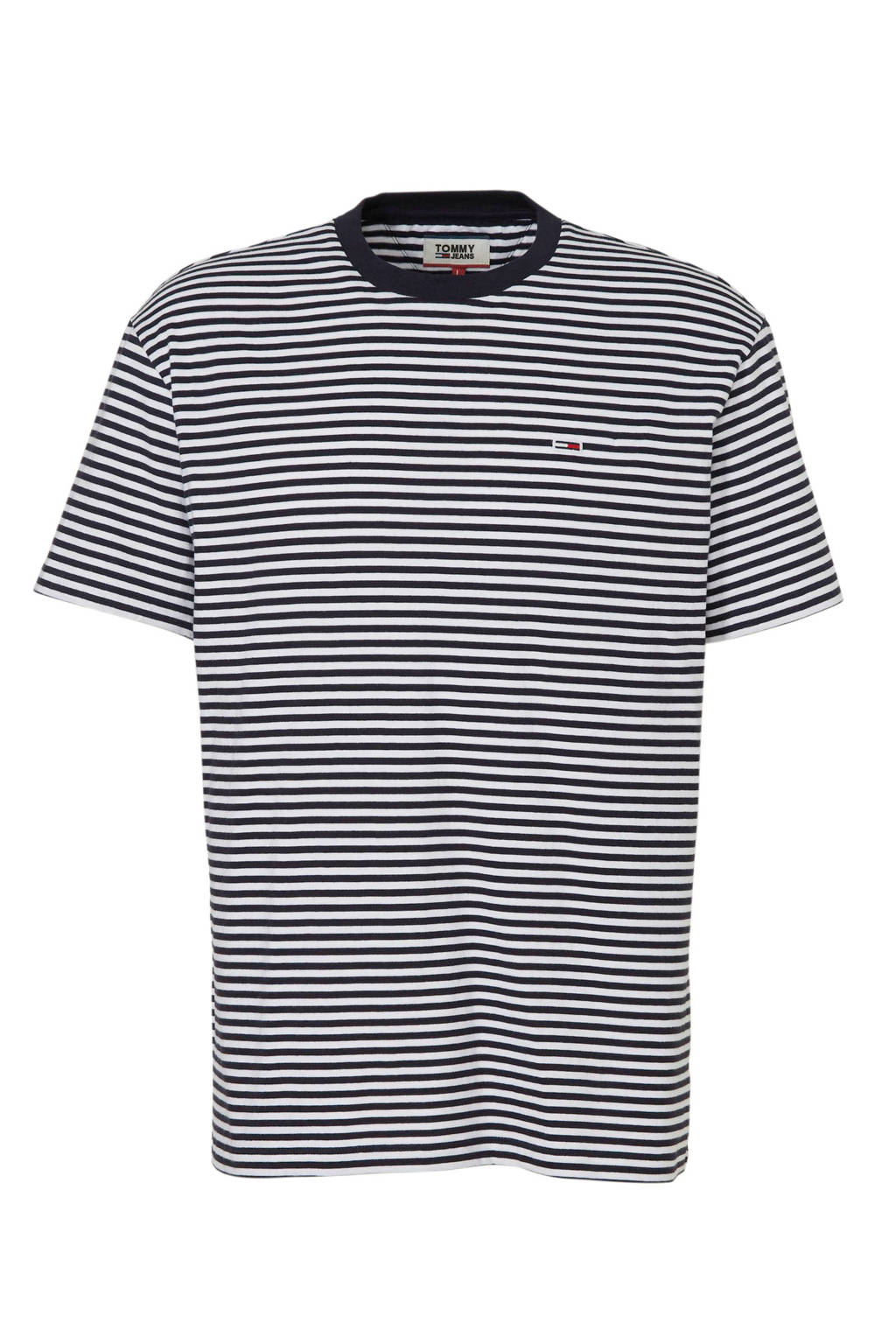 Tommy Jeans T-shirt met streepdessin marine, marine/ wit