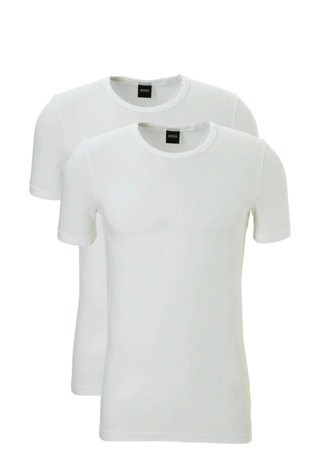 Boss T-shirt (set van 2) wit, Wit