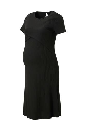 zwangerschap + voeding jurk zwart