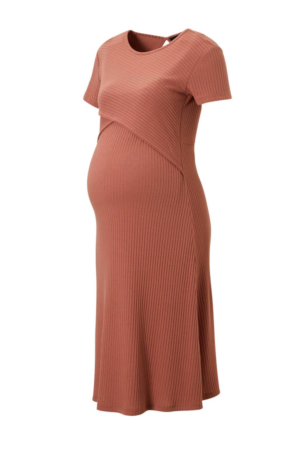 Supermom zwangerschap + voeding jurk roze, Oudroze