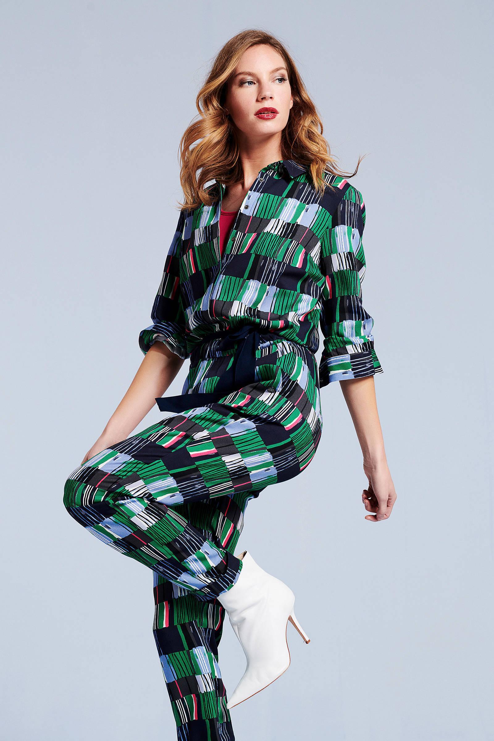 allover jumpsuit Didi met groen print 1g7wFnqwR