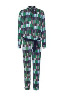 Didi jumpsuit met allover print groen (dames)