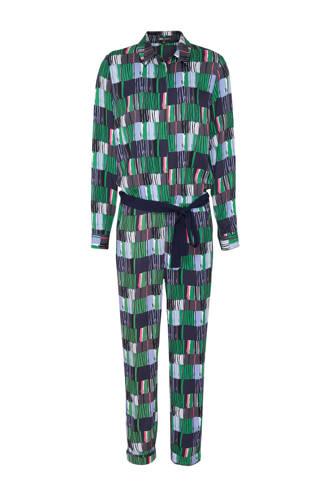 jumpsuit met allover print groen