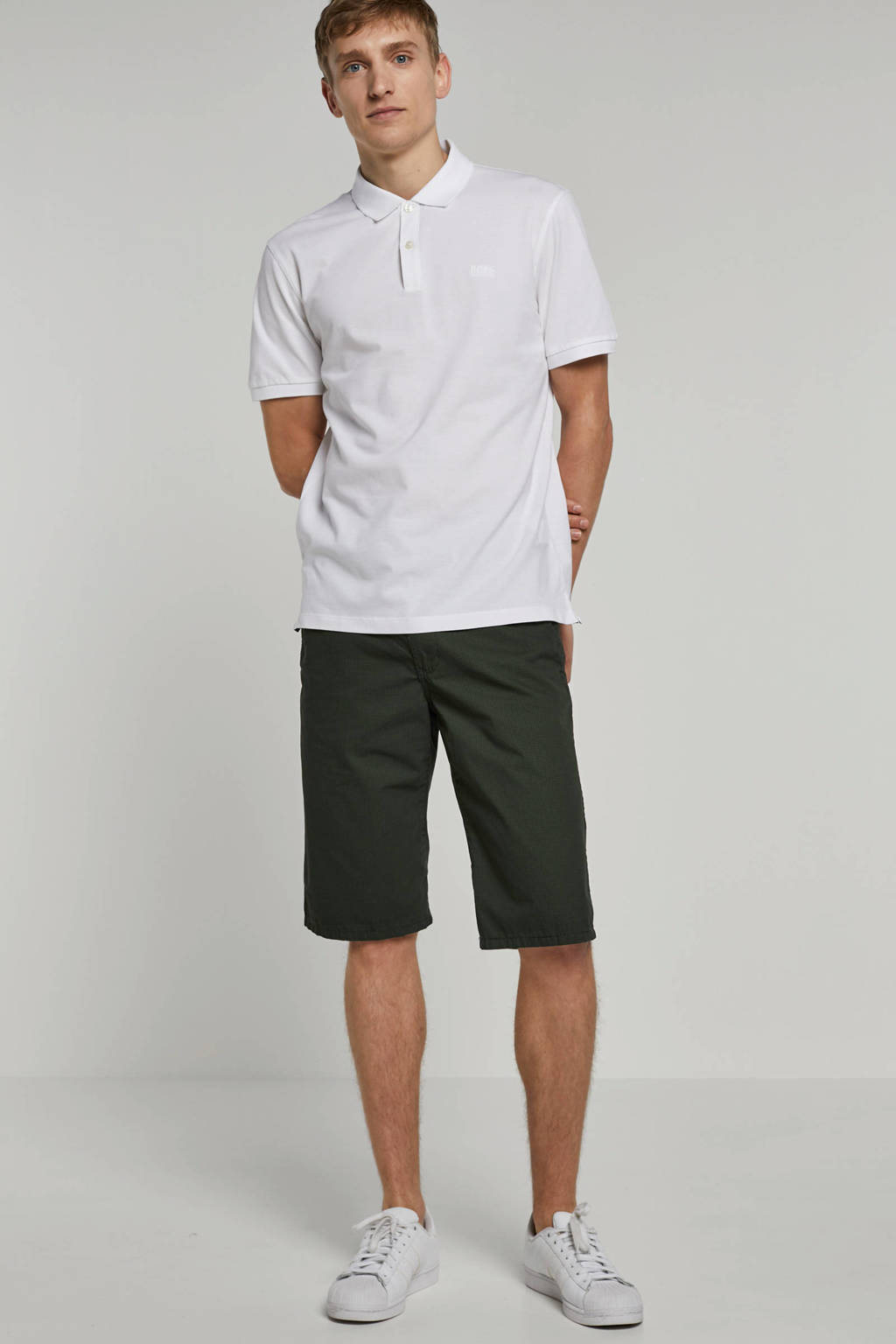 Boss Business regular fit polo, Wit