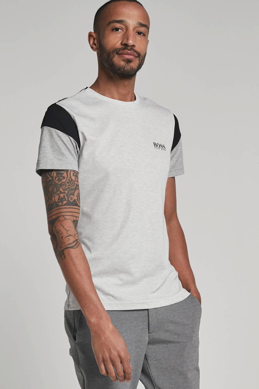 Boss Athleisure gemêleerd T-shirt grijs, Grijs