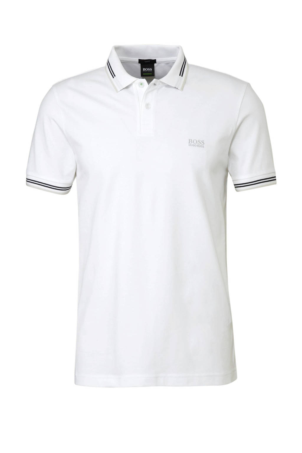 Boss Athleisure slim fit polo wit, Wit