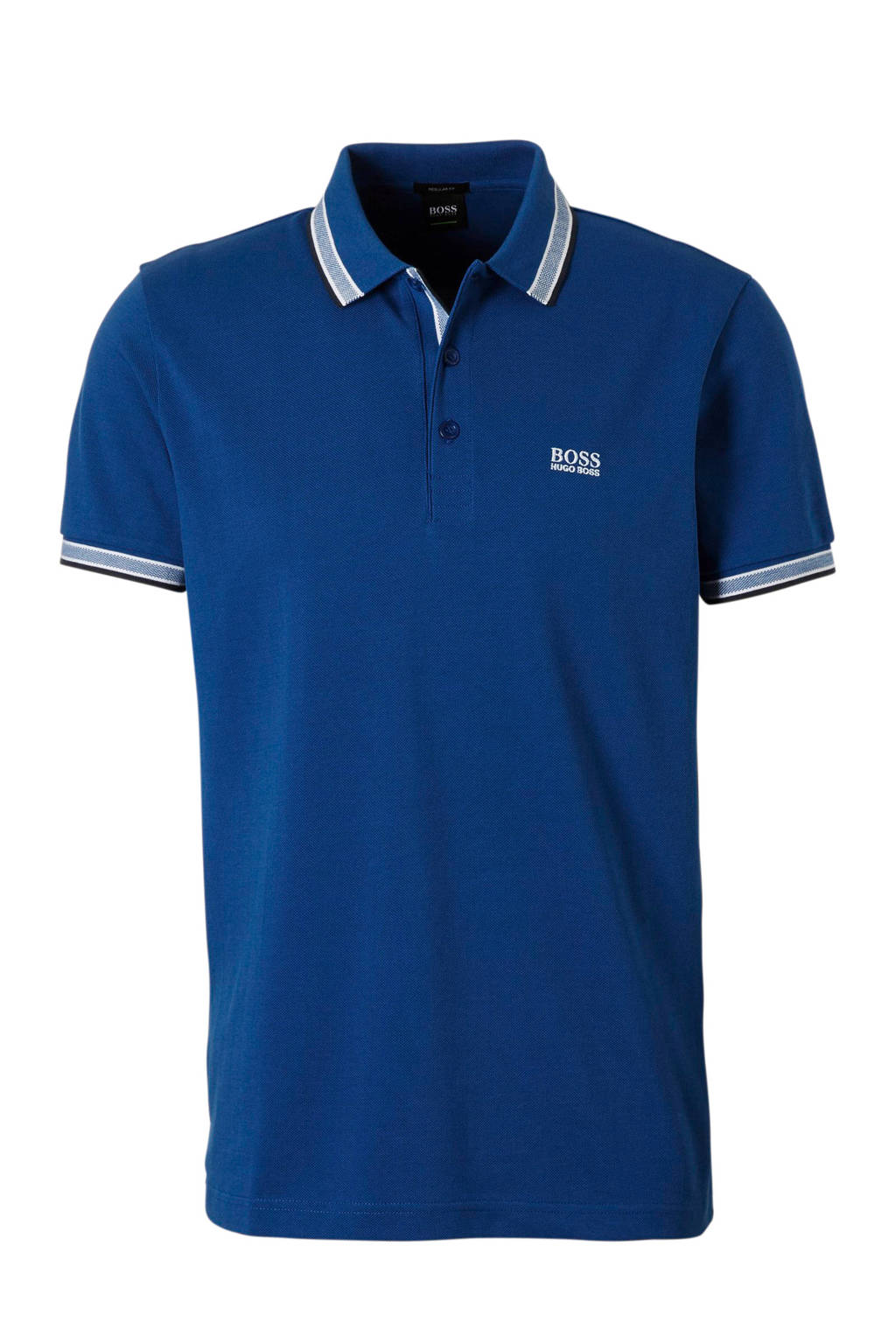 Boss Athleisure regular fit polo blauw, Blauw